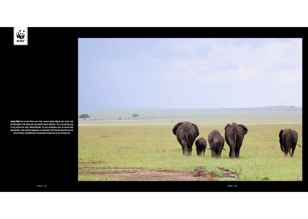 Foto Janny Polak in WNF boek 'Aarde op 1'