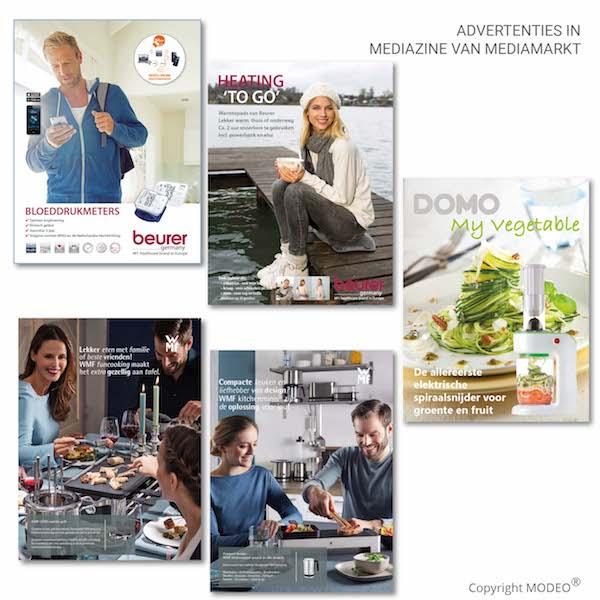 Advertenties in Mediazine door MODEO