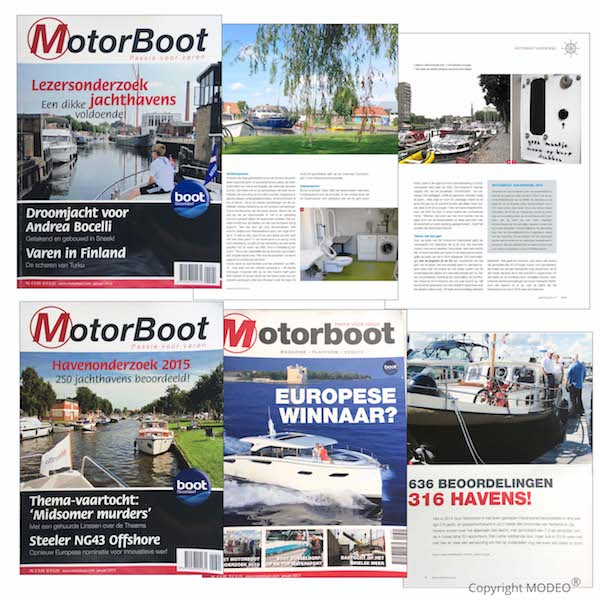 Foto's Janny Polak in magazine Motorboot