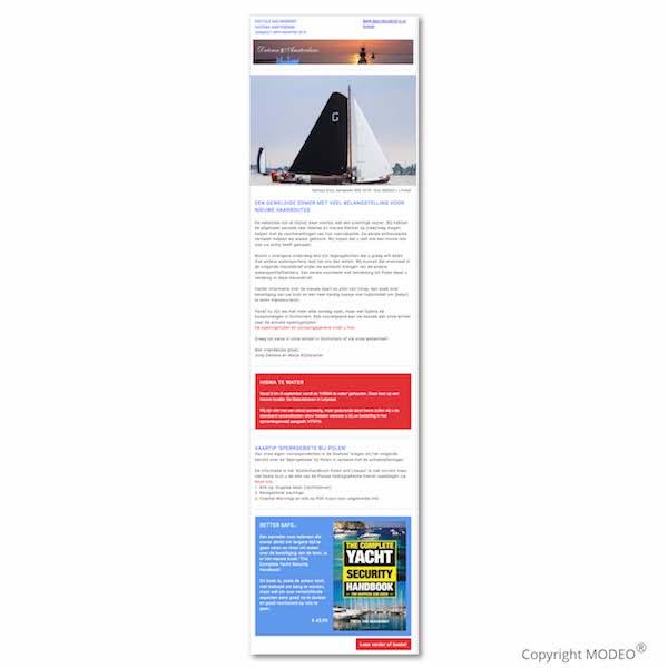Maandelijkse nieuwsbrief Datema Amsterdam door MODEO