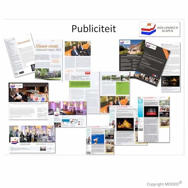 Publiciteit Hollandsch Slapen vakbeurs 2014_MODEO