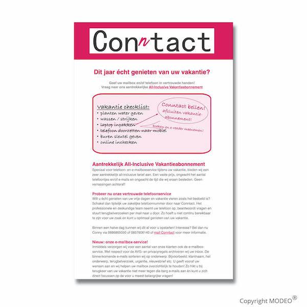 Nieuwsbrief 2 voor Conntact verzorgd door MODEO