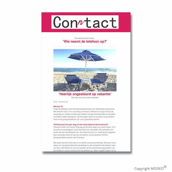 Nieuwsbrief 3 voor Conntact verzorgd door MODEO