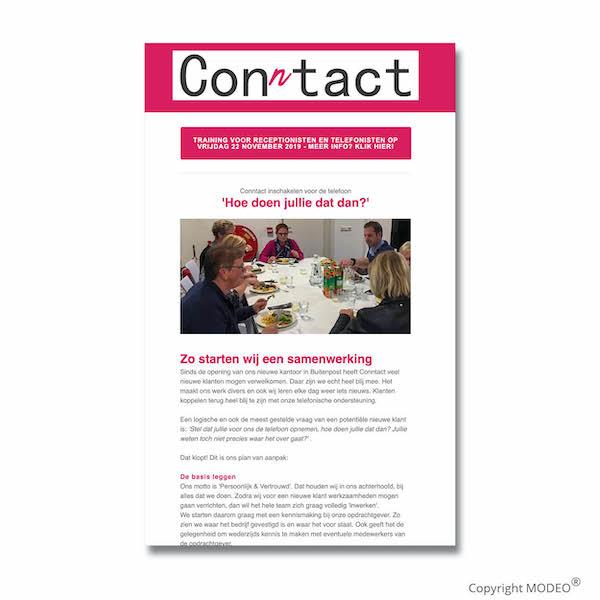 Nieuwsbrief 4 voor Conntact verzorgd door MODEO