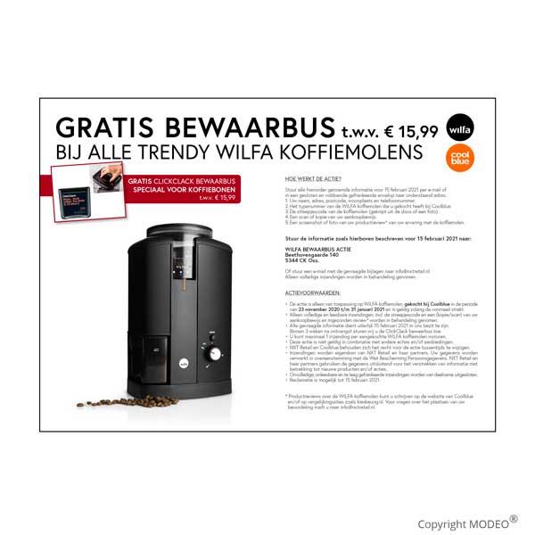 Digitale-promotiematerialen-Wilfy-koffie-bij-cool-Blue-voor-NXT-Retail-door-MODEO